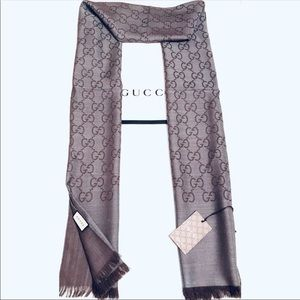 🔥💯AUTHENTIC GUCCI JAQUARD  SCARF